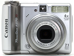 Canon A570 IS - FRONT