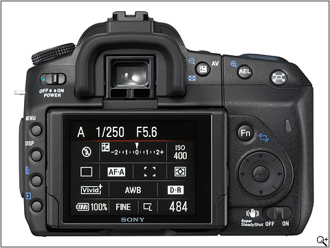 Sony A350 Back